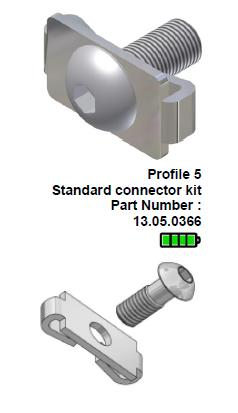 Aluminium profile screw connector