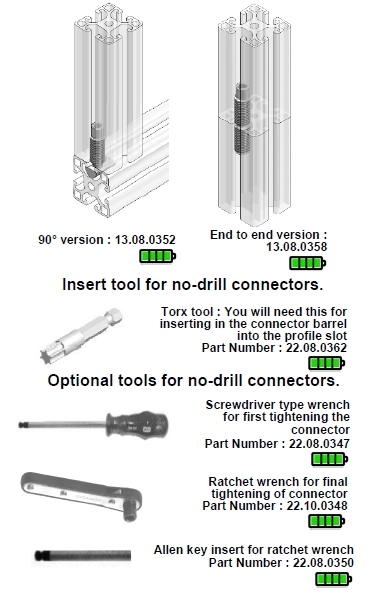 Series 8 no drill connector
