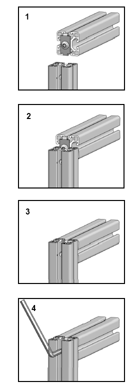 Aluminium extrusion connector